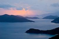 Sunrise from schooner estate Tortola<br /> British Virgin Islands