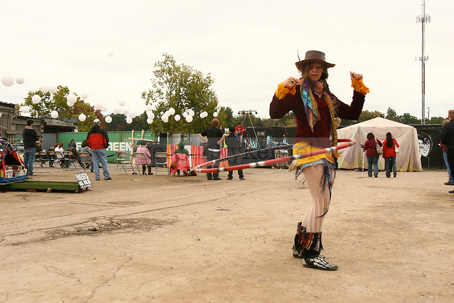 Louisville native Jenna Watkins hula hoops around the Boomslang Festival at Buster's Saturday, October 10.