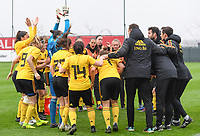 20190409 - TUBIZE , Belgium : Belgian team pictured during a pre match cheer up before a women soccer game between the under 19 teams of Belgium and Poland. This is the Third and final game in their elite round qualification for the European Championship in Schotland 2019. The Belgian national women's soccer team is called the Red Flames, on the 9 th of April in Tubize. PHOTO DAVID CATRY | Sportpix.be