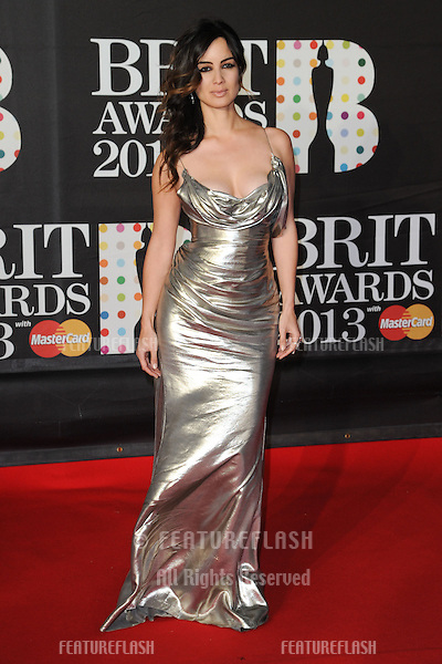 Berenice Marhloe arrives for the Brit Awards 2013 at the O2 Arena, Greenwich, London. 20/02/2013 Picture by: Steve Vas / Featureflash