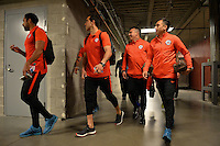 Santa Clara, CA - Monday June 06, 2016: Chile arriving prior to a Copa America Centenario Group D match between Argentina (ARG) and Chile (CHI) at Levi's Stadium.