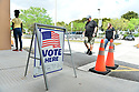 MIRAMAR, FL - MARCH 17: Florida voters arrive at the precinct at Broward County, Florida precinct to vote in the Florida primary on March 17, 2020 in Miramar, Florida. People are heading to the polls to vote for their Democratic choice in their parties' respective primaries during the COVID-19 outbreak where United States death toll from the virus passed 100. black voters carried Joe Biden to his projected Florida win during Super Tuesdayon March 17, 2020 in Miramar, Florida.  ( Photo by Johnny Louis / jlnphotography.com )