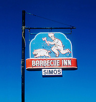Barbecue Inn restaurant sign in Winston Salem, NC