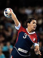 23 NOV 2011 - LONDON, GBR - Britain's Holly Lam-Moores shoots during the 2011 London Handball Cup match against Angola at The Handball Arena in the Olympic Park in Stratford, London .(PHOTO (C) NIGEL FARROW)