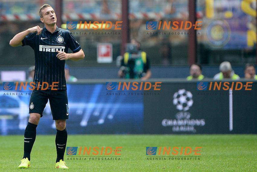 Nemanja Vidic Inter<br /> Milano 28-09-2014 Stadio Giuseppe Meazza - Football Calcio Serie A Inter - Cagliari. Foto Giuseppe Celeste / Insidefoto