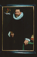 Paintings:  Frans Pourbus the Younger--Portrait van Petrus Ricardus.   Groeninge Museum, Bruges.  Reference only.
