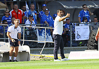 Trainer Dimitrios Grammozis (SV Darmstadt 98) - 04.08.2019: SV Darmstadt 98 vs. Holstein Kiel, Stadion am Boellenfalltor, 2. Spieltag 2. Bundesliga<br /> DISCLAIMER: <br /> DFL regulations prohibit any use of photographs as image sequences and/or quasi-video.