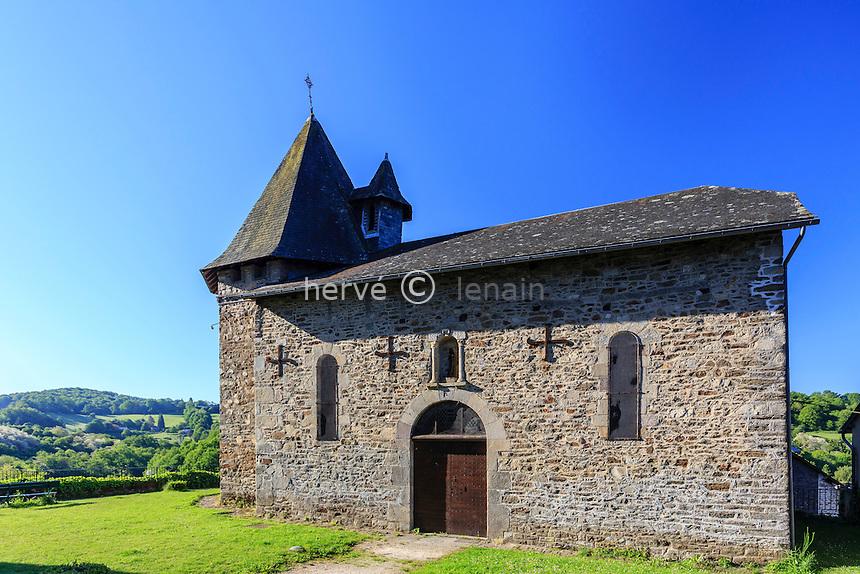 France, Corrèze (19), Uzerche, chapelle Notre-Dame de Bécharie // France, Correze, Uzerche, Notre Dame de Becharie chapel