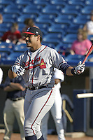 Rome Braves Isaiah Ka'aihue during the South Atlantic League All-Star game at Classic Park on June 20, 2006 in Eastlake, Ohio.  (Mike Janes/Four Seam Images)