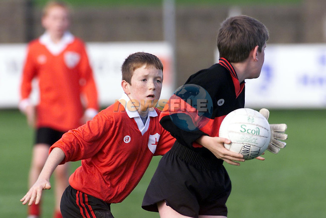 Action between Clogherhead and Collon in the Rural Schools GAA Finals..Picture: Paul Mohan/Newsfile