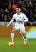 Leon Britton during the Barclays Premier League match between Swansea City and Watford at the Liberty Stadium, Swansea on January 18 2016