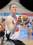 November 18 2011 - Guadalajara, Mexico:   Patrick Anderson on Team Canada prepares for a free throw during  the Bronze Medal Game against Team Mexico in the CODE Alcalde Sports Complex at the 2011 Parapan American Games in Guadalajara, Mexico.  Photos: Matthew Murnaghan/Canadian Paralympic Committee