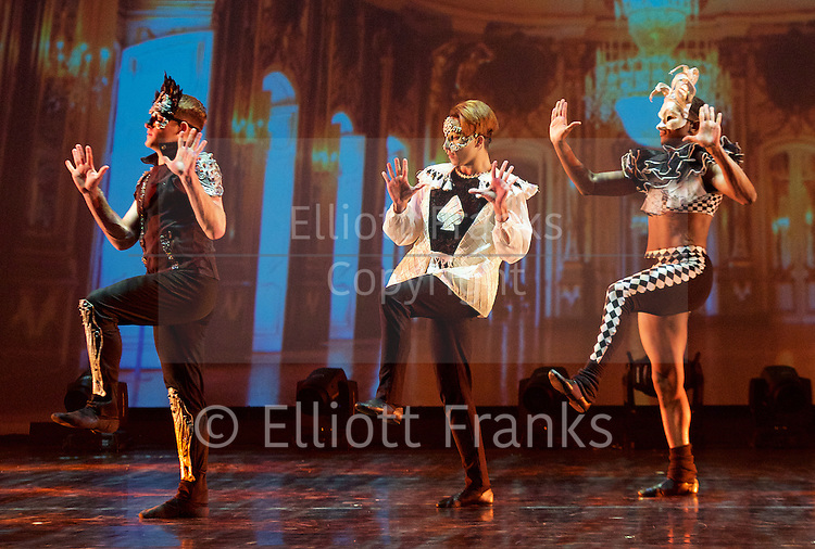 Romeo &amp; Juliet <br /> by Rasta Thomas <br /> at The Peacock Theatre, London, Great Britain <br /> press photocall <br /> 4th March 2015 <br /> <br /> Preston Swovelin as Romeo <br /> Adrienne Canterna as Juliet <br /> Eric Lehn as Paris <br /> Jace Zeimantz as Friar Laurence <br /> Jourdan Epstein as Nurse<br /> Jarvis McKinley as Mercutio <br /> Ivan Gomez as Benvolio <br /> Ryan Carlson as Tybalt <br /> Lloyd Boyd as Gregory <br /> Samuel Quinn as Sampson <br /> <br /> <br /> <br /> <br /> <br /> Photograph by Elliott Franks <br /> Image licensed to Elliott Franks Photography Services