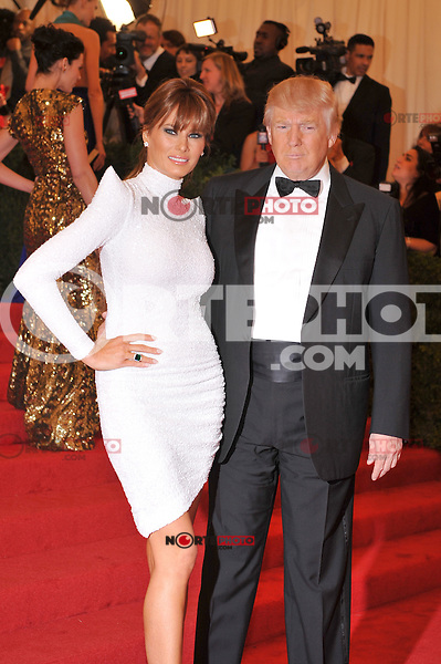 Donald Trump and Melania Trump at the 'Schiaparelli And Prada: Impossible Conversations' Costume Institute Gala at the Metropolitan Museum of Art on May 7, 2012 in New York City. © mpi03/MediaPunch Inc.