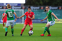 Angharad James of Wales in action during the UEFA Womens Euro Qualifier match between Wales and Northern Ireland at Rodney Parade in Newport, Wales, UK. Tuesday 03, September 2019