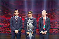 Nationaltrainer Gruppe D: Garrett Southgate (England), Zlatko Dalic (Kroatien), Jaroslav Šilhavý (Tschechien) - 30.11.2019: UEFA EURO2020 Auslosung, Romexpo Bukarest, DISCLAIMER: UEFA regulations prohibit any use of photographs as image sequences and/or quasi-video.