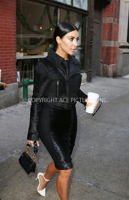 WWW.ACEPIXS.COM<br /> <br /> January 8 2015, New York City<br /> <br /> Kim Kardashian had lunch at ABC Kitchen and then went shopping in Chelsea on January 8 2015 in New York City<br /> <br /> By Line: Zelig Shaul/ACE Pictures<br /> <br /> <br /> ACE Pictures, Inc.<br /> tel: 646 769 0430<br /> Email: info@acepixs.com<br /> www.acepixs.com