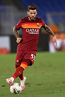 Carles Perez of AS Roma in action during the Serie A football match between AS Roma and ACF Fiorentina at stadio Olimpico in Roma (Italy), July 26th, 2020. Play resumes behind closed doors following the outbreak of the coronavirus disease. <br /> Photo Antonietta Baldassarre / Insidefoto