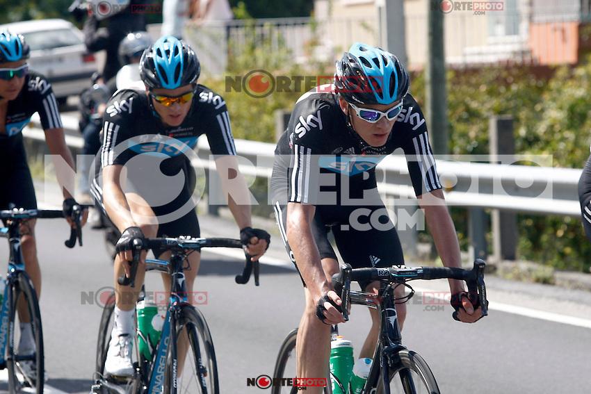 Christopher Froome during the stage of La Vuelta 2012 between Vilagarcia de Arousa and Mirador de Erazo (Dumbria).August 30,2012. (ALTERPHOTOS/Paola Otero) /NortePhoto.com<br /> <br /> **CREDITO*OBLIGATORIO** <br /> *No*Venta*A*Terceros*<br /> *No*Sale*So*third*<br /> *** No*Se*Permite*Hacer*Archivo**<br /> *No*Sale*So*third*