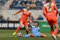 Bridgeview, IL - Saturday May 06, 2017: Kealia Ohai, Samantha Johnson during a regular season National Women's Soccer League (NWSL) match between the Chicago Red Stars and the Houston Dash at Toyota Park.