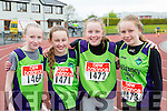 Killarney Valley runners Lynne Fahy, Rachel Griffin, Laura Cremins and Aoibhín Evans at the County Championships in Castleisland on Saturday