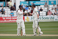 Simon Harmer and Daniel Lawrence enjoy a useful partnership for Essex during Essex CCC vs Warwickshire CCC, Specsavers County Championship Division 1 Cricket at The Cloudfm County Ground on 15th July 2019