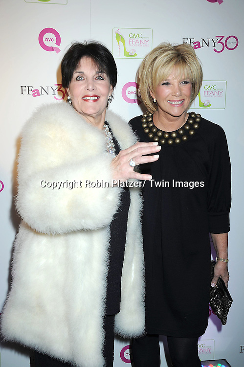 "Linda Dano and Joan Lunden attending The QVC Presents ""FFANY Shoes on Sale"" at Frederick P Rose Hall, Home of Jazz at Lincoln Center on October 13, 2010 in New York City."