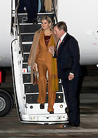 09 March 2016 - France - Queen Maxima and King Willem-Alexander arrive by KBX airplane for the 2 day statevisit at the Velizy-Viollacoublay airport in France. Photo Credit: PPE/face to face/AdMedia
