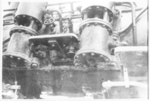 Detail of left-side air pumps.  (Dorman arranged this picture with the rest of #278 pictures.)<br /> D&amp;RGW