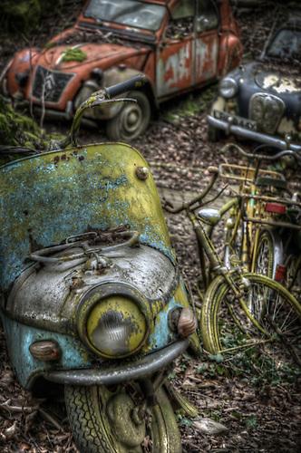Old car graveyard
