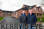 Liam Kingston Treasurer and Jim McAdams Chairman of Kerry Society for Autism outside the empty residential centre for Autism which was completed in 2014.