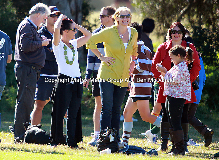 8 MAY 2010 SYDNEY AUSTRALIA<br /> <br /> EXCLUSIVE<br /> <br /> Johanna Griggs and ex husband Gary Sweet watch their son playing Rugby at Centennial Park. Gary was accompanied by his new girlfriend Nadia Byall.