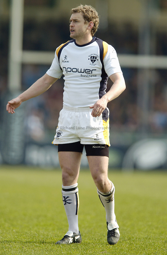 Photo: Jonathan Butler..Bristol Rugby v Worcester Rugby. Guinness Premiership. 07/04/2007..James Brown of Worcester.