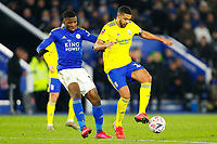 4th March 2020; King Power Stadium, Leicester, Midlands, England; English FA Cup Football, Leicester City versus Birmingham City; Jake Clarke-Salter of Birmingham City holds off Kelechi Iheanacho of Leicester City