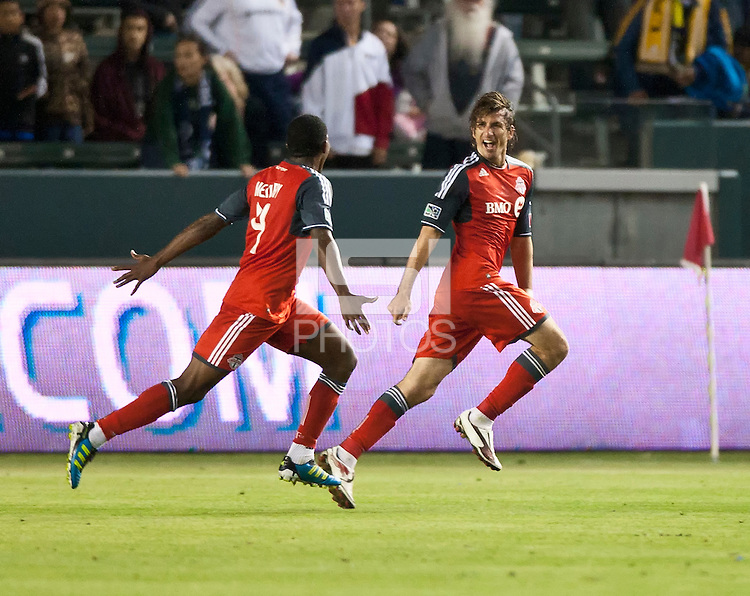 CARSON, CA – June 11, 2011: Toronto FC forward Alan Gordon (21)  during the match between LA Galaxy and Toronto FC at the Home Depot Center in Carson, California. Final score LA Galaxy 2, Toronto FC 2.