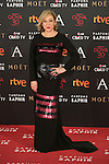 Carmen Machi attends 30th Goya Awards red carpet in Madrid, Spain. February 06, 2016. (ALTERPHOTOS/Victor Blanco)