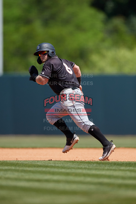 Jupiter Hammerheads Cameron Baranek (8) running the bases during a Florida State League game against the Florida Fire Frogs on April 11, 2019 at Osceola County Stadium in Kissimmee, Florida.  Jupiter defeated Florida 2-0.  (Mike Janes/Four Seam Images)