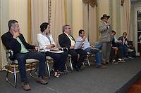 RIO DE JANEIRO-04/07/2012-PREFEITO EDUARDO PAES SANCIONA LEI DOS CLUBES- O Deputado Chiquinho da Mangueira na cerimonia onde o Prefeito Eduardo Paes sanciona a lei dos clubes, o projeto de lei tem como objetivo perdoar dividas de ISS (Imposto sobre Servicos de Qualquer Natureza) e de IPTU (Imposto sobre a Propriedade Predial e Territorial Urbana) de associacoes recreativas ou desportivas, no valor de ate um milhao de reais.  Como contrapartida, os clubes e associacoes devem disponibilizar suas dependencias (infraestrutura e pessoal) para a pratica e educacao esportiva da rede municipal de ensino, no Palacio da Cidade, em Botafogo, zona sul do Rio.Foto:Marcelo Fonseca-Brazil Photo Press