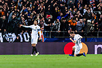 Antonio Latorre Grueso (R) and Daniel Parejo Munoz of Valencia CF (L) celebrates a goal of Valencia CF during the UEFA Champions League 2018-19 match between Valencia CF and Manchester United at Estadio de Mestalla on December 12 2018 in Valencia, Spain. Photo by Maria Jose Segovia Carmona / Power Sport Images