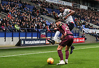 Bolton Wanderers' Sammy Ameobi competing with Swansea City's Matt Grimes<br /> <br /> Photographer Andrew Kearns/CameraSport<br /> <br /> The EFL Sky Bet Championship - Bolton Wanderers v Swansea City - Saturday 10th November 2018 - University of Bolton Stadium - Bolton<br /> <br /> World Copyright © 2018 CameraSport. All rights reserved. 43 Linden Ave. Countesthorpe. Leicester. England. LE8 5PG - Tel: +44 (0) 116 277 4147 - admin@camerasport.com - www.camerasport.com