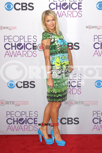 LOS ANGELES, CA - JANUARY 09: Paris Hilton at the 39th Annual People's Choice Awards at Nokia Theatre L.A. Live on January 9, 2013 in Los Angeles, California. Credit: mpi21/MediaPunch Inc. /NORTEPHOTO
