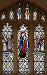 Church of Saint Andrew, Little Glemham, stained glass window of biblical stories by Margaret Edith Aldrich Rope 1929