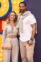 "LONDON, UK. June 16, 2019: Kate Wright & Rio Ferdinand arriving for the ""Toy Story 4"" premiere at the Odeon Luxe, Leicester Square, London.<br /> Picture: Steve Vas/Featureflash"
