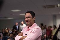 SAO PAULO, SP, 10.05.2014. ALEXANDRE PADILHA - LANCAMENTO DE PROGRAMA DE GOVERNO PARTICIPATIVO, o vereador Orlando Silva  durante o lançamento do programa de governo participativo do pré candidato do Partido dos Trabalhadores ao governo de São Paulo, Alexandre Padilha. O evento aconteceu na manhã deste sábado na Assembléia Legislativa do Estado, na zona sul da capital paulista. (Foto: Adriana Spaca/ Brazil Photo Press)