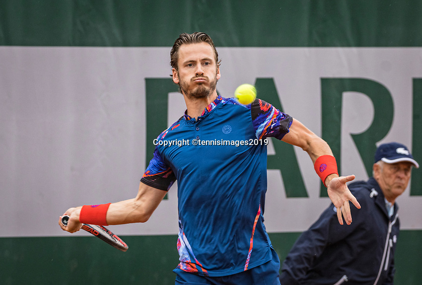Paris, France, 30 May, 2019, Tennis, French Open, Roland Garros, Men's doubles second round: Wesley Koolhof (NED) <br /> Photo: Henk Koster/tennisimages.com