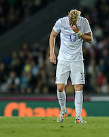 PRAGUE, Czech Republic - September 3, 2014: USA's Brek Shea during the international friendly match between the Czech Republic and the USA at Generali Arena.