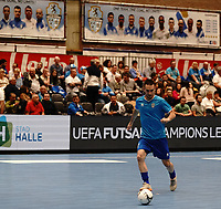 20191010 - HALLE: Halle-Gooik's captain Teixeira is pictured during the warm up before the UEFA Futsal Champions League Main Round match between FP Halle-Gooik (BEL) and Kherson (UKR) on1 0th October 2019 at De Bres Sportcomplex, Halle, Belgium. PHOTO SPORTPIX | SEVIL OKTEM