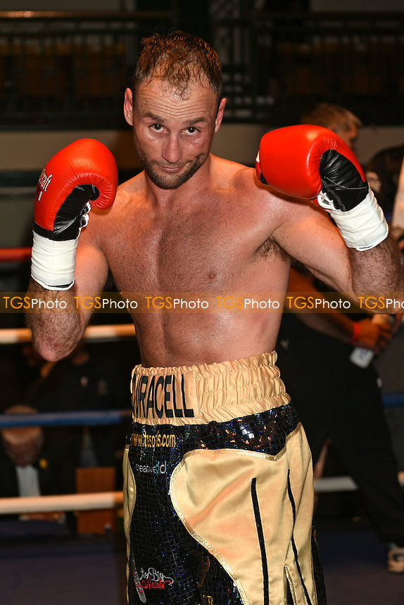 Ben Jones (gold/black shorts) defeats Laszlo Fekete - Boxing at York Hall, Bethnal Green, London - 28/05/15 - MANDATORY CREDIT: Philip Sharkey/TGSPHOTO - Self billing applies where appropriate - contact@tgsphoto.co.uk - NO UNPAID USE