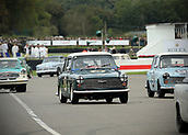 10th September 2017, Goodwood Estate, Chichester, England; Goodwood Revival Race Meeting; An Austin A40 exits the Goodwood chicane