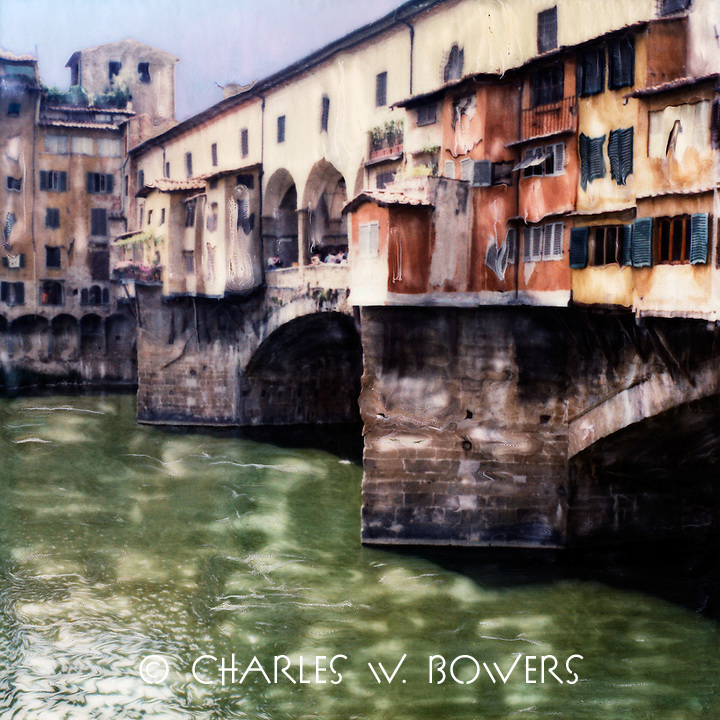 The Arno River divides Florence while the Ponte Vecchio bridges the divide as it has done for centuries.<br /> <br /> -Limited Edition of 50 Prints